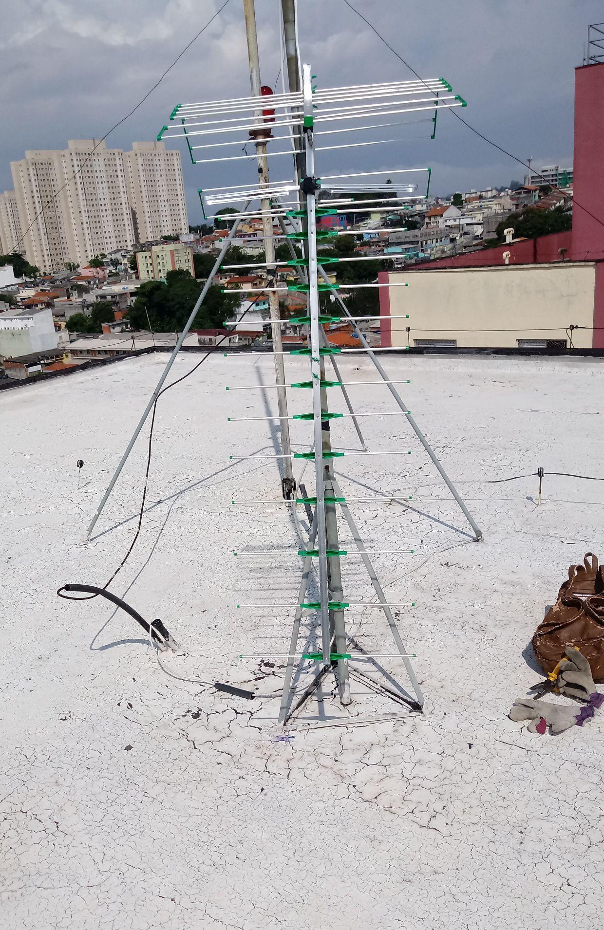 instalação  Antena Coletiva prédio 12 andares