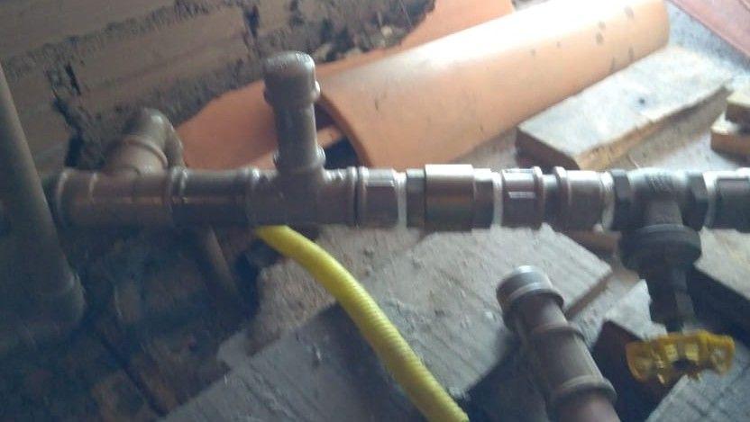 Instalação de válvula de retenção