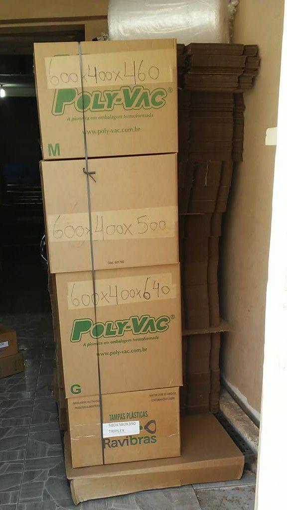 caixas de papelão reciclável
