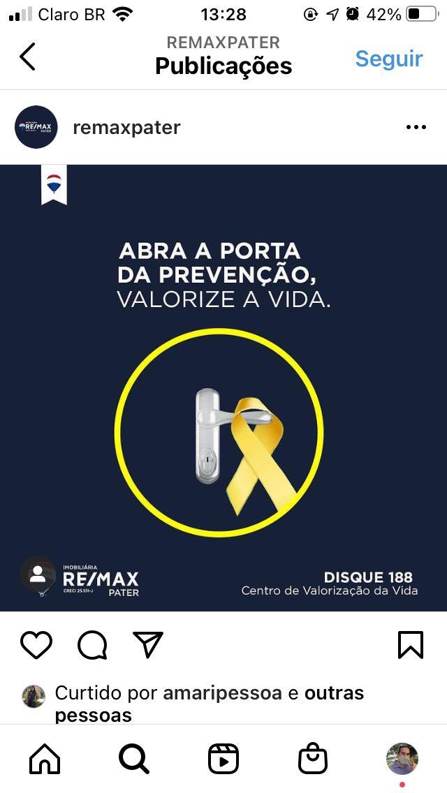 Post realizado para a imobiliária Remax Pater-Df