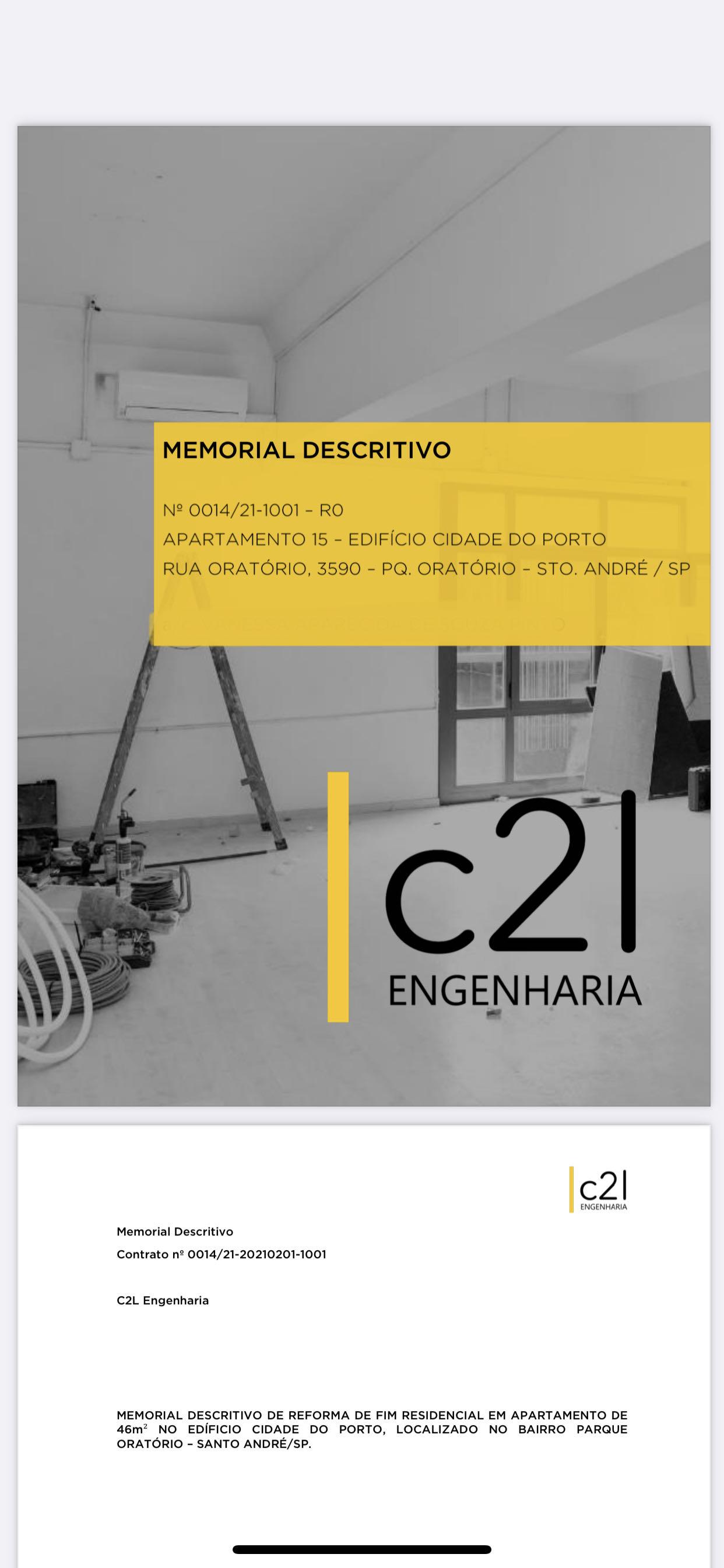 Memorial descritivo e emissão de ART de reforma