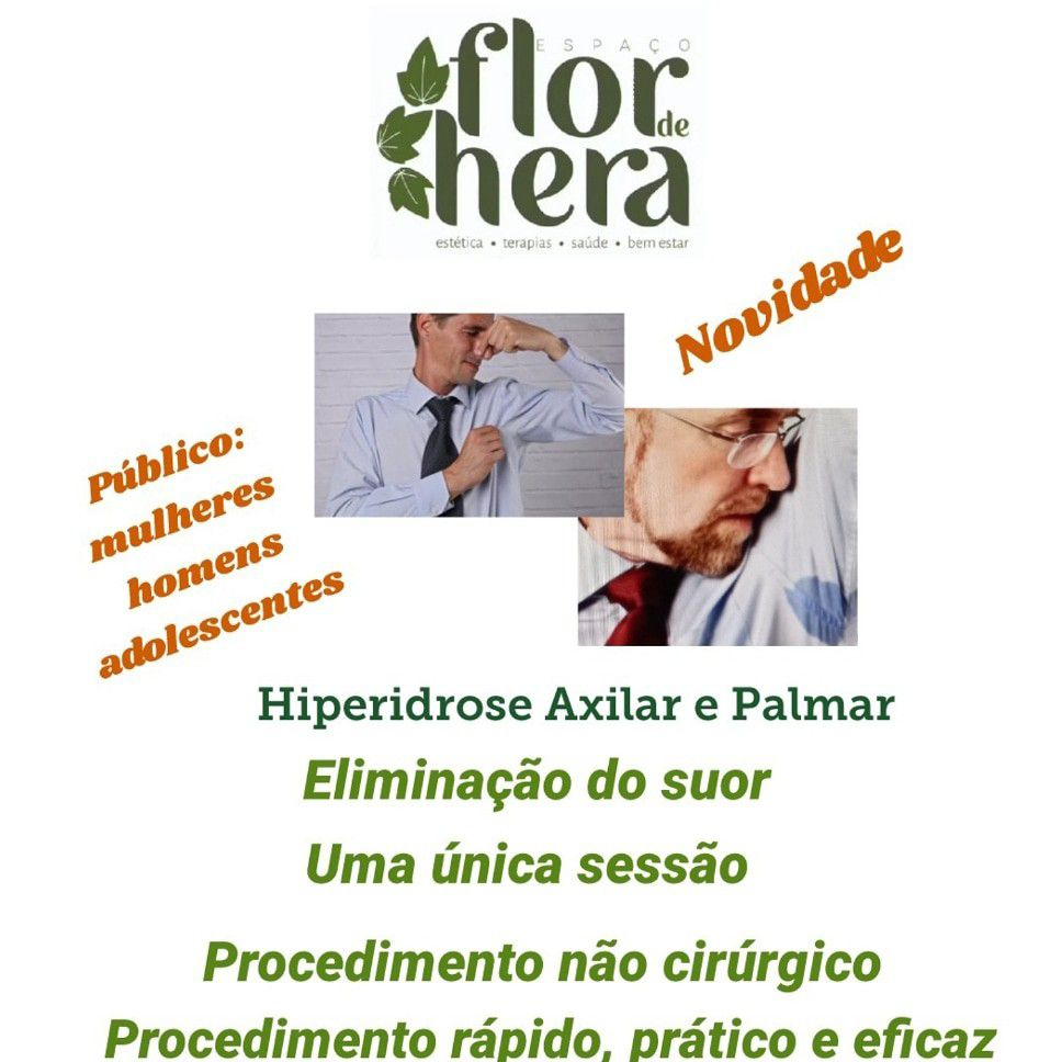 Tratamento de Sudorese- Hiperidrose Axilar- Palmar