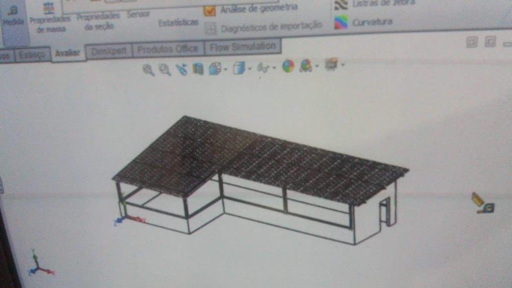 3D cobertura metálica residêncial