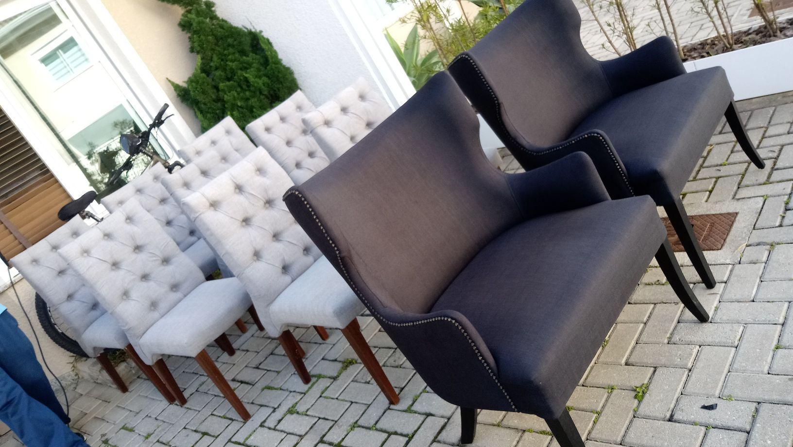 cadeiras e poltronas higienizadas