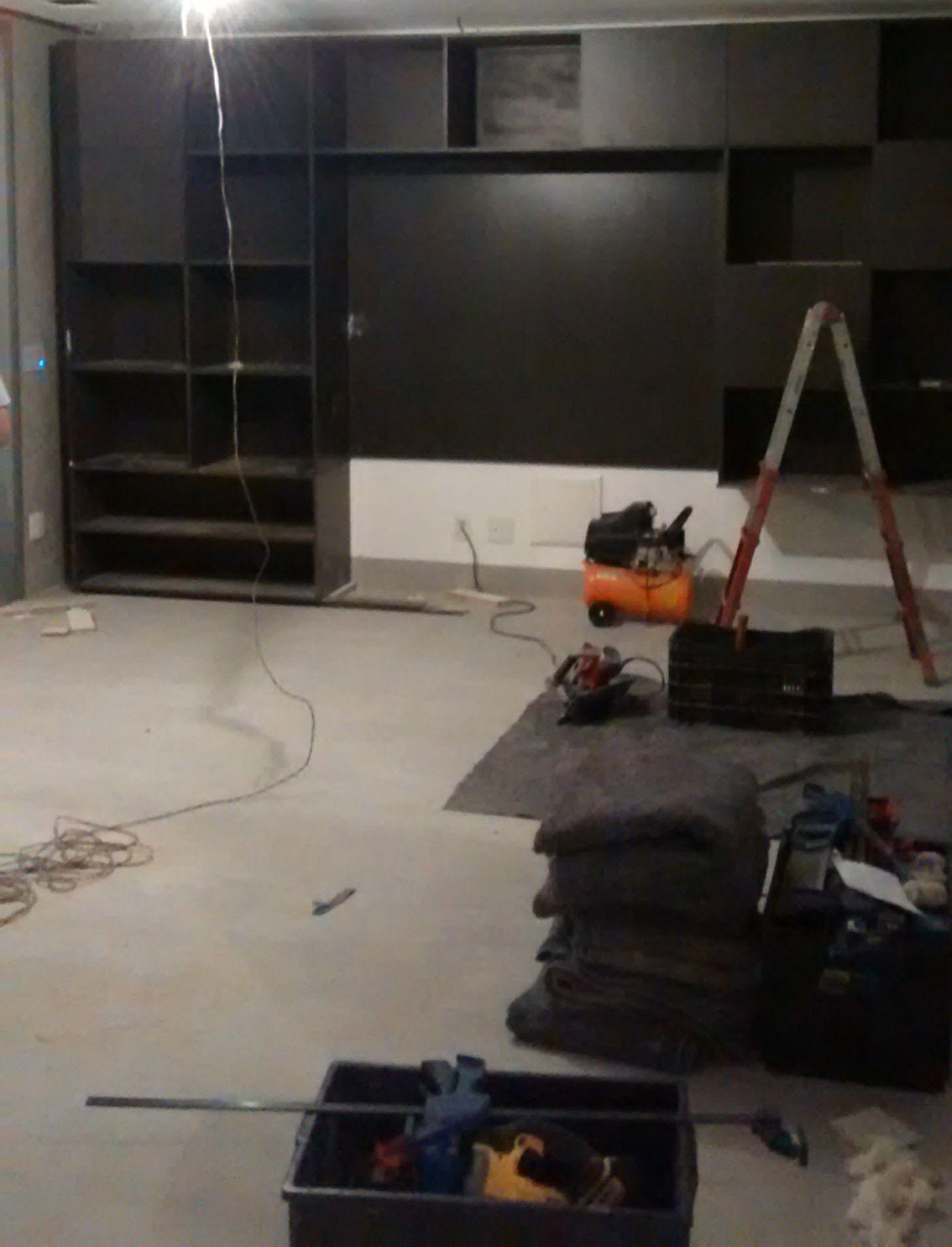 fabricação e instalação de de estante