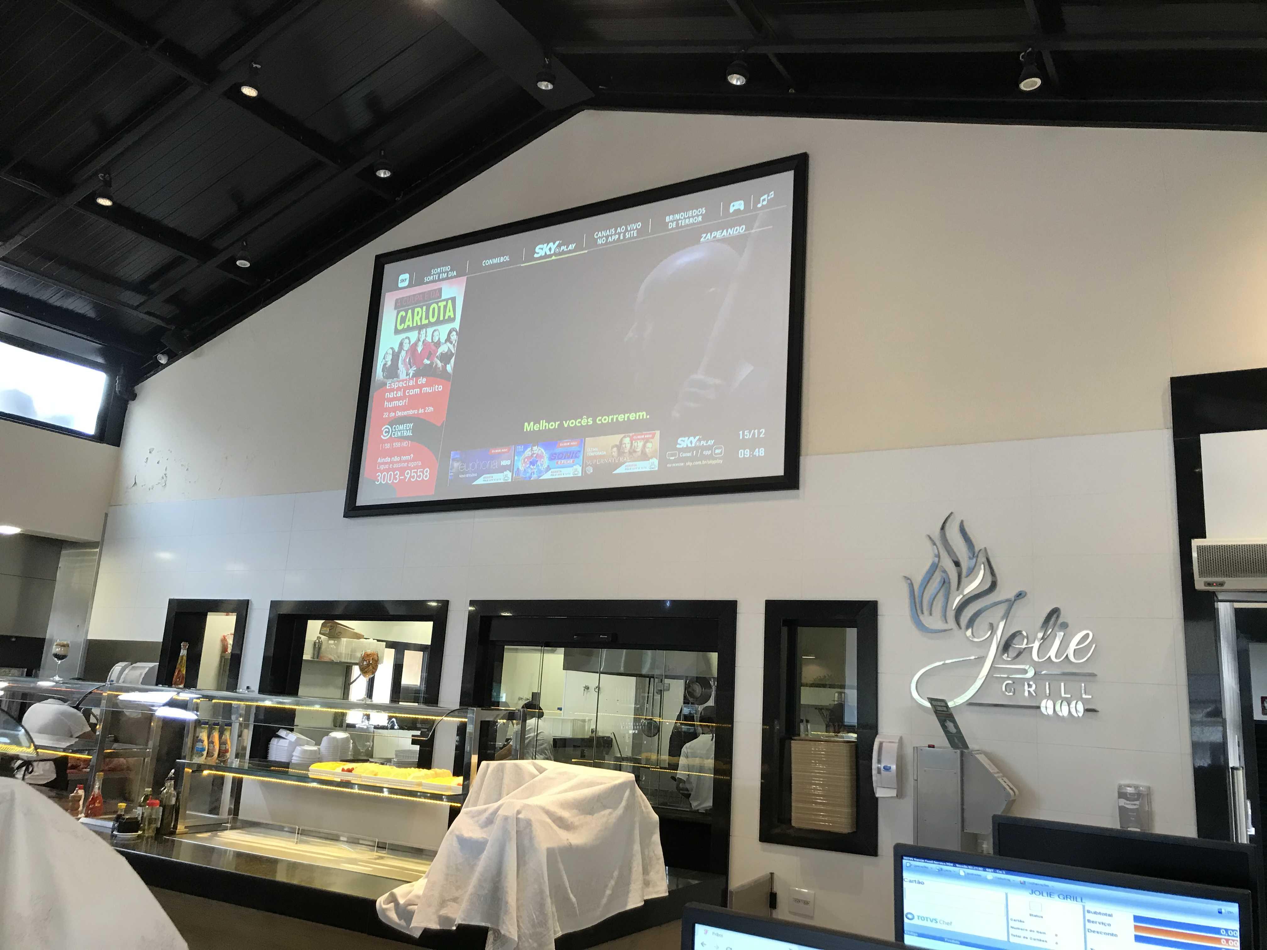 """Instalação projetor + tela de 150"""""""