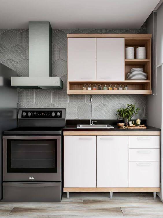 Cozinhas simples e moderna.