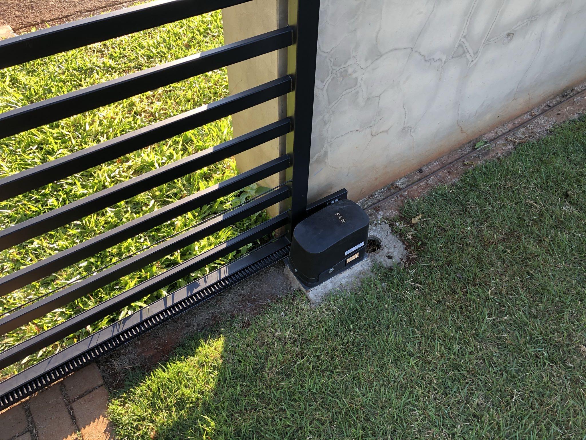 Motorização de portão deslizante em residência em Engenheiro Coelho!