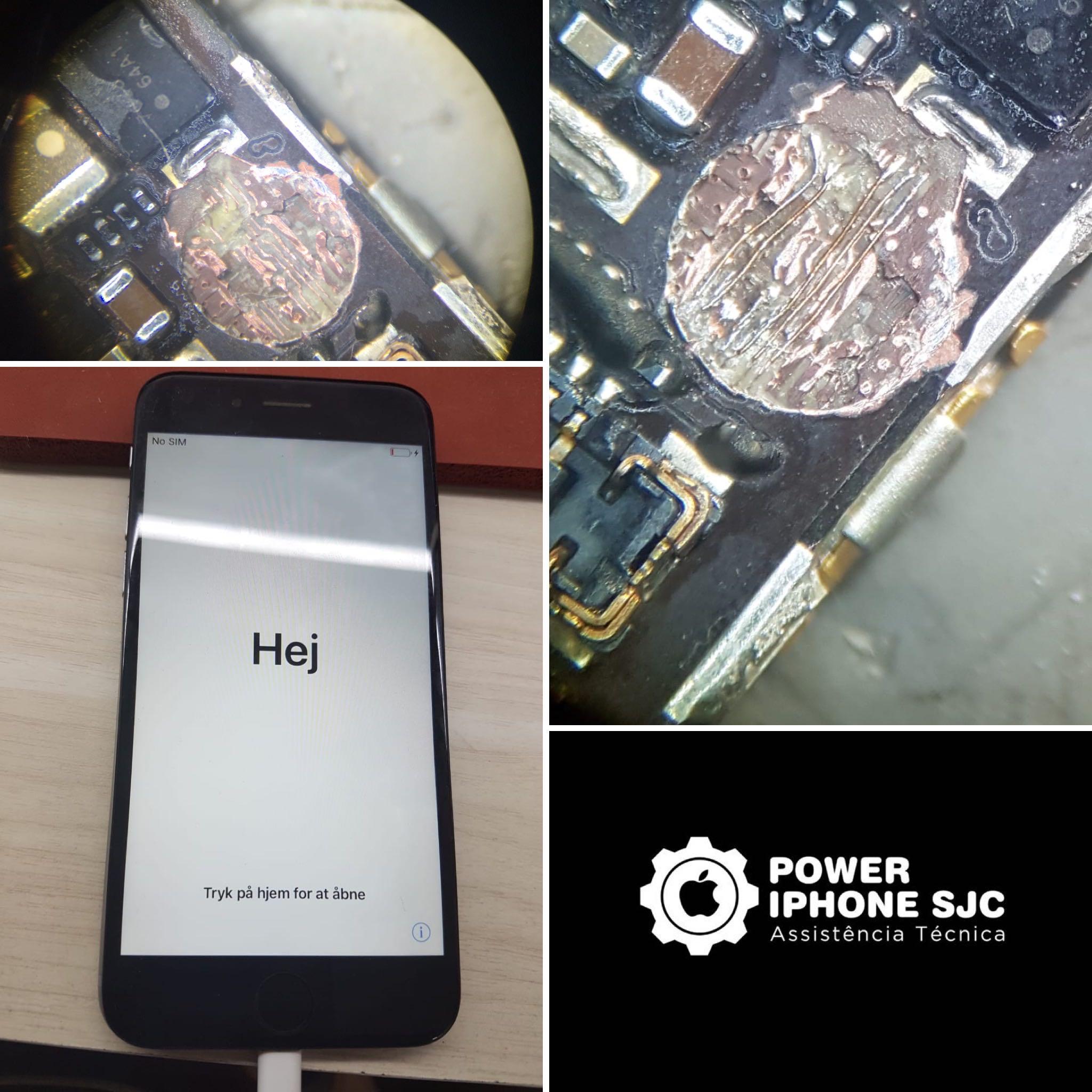 iPhone 6 trilha rompida por parafuso