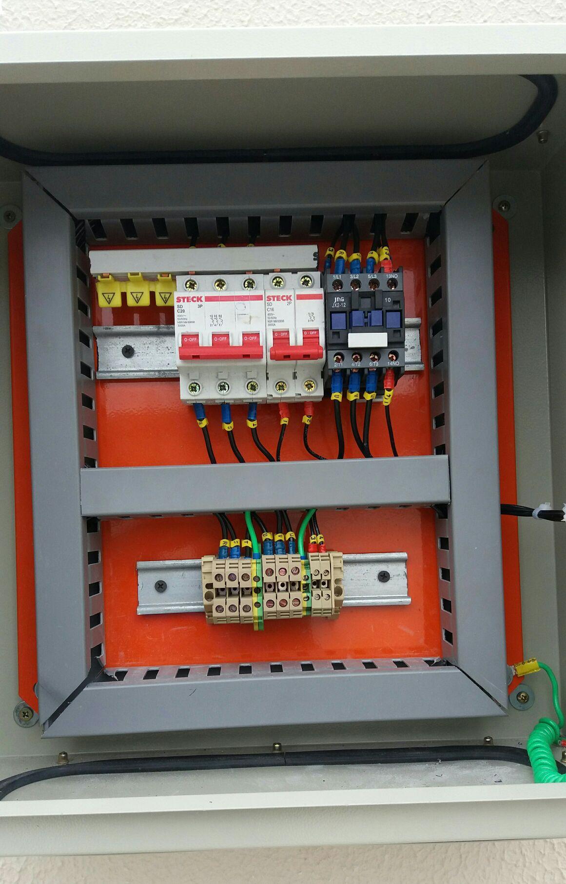quadro de comandos para caixa