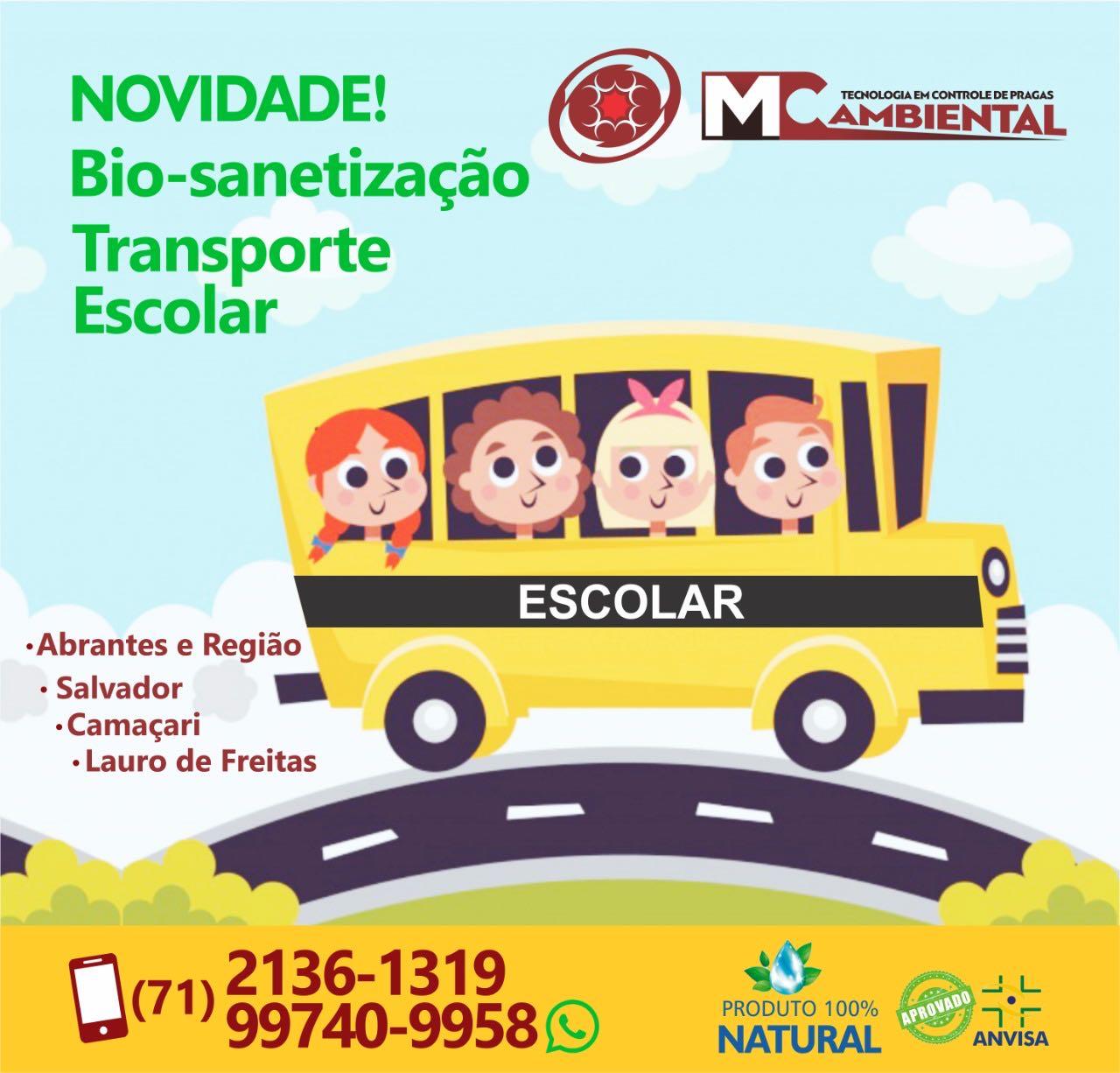 Bio Sanitização - Transporte Escolar