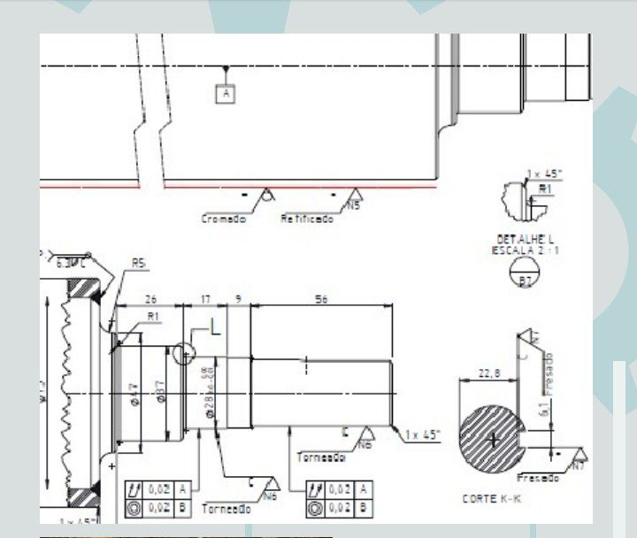 Detalhamento de fabricação mecânica