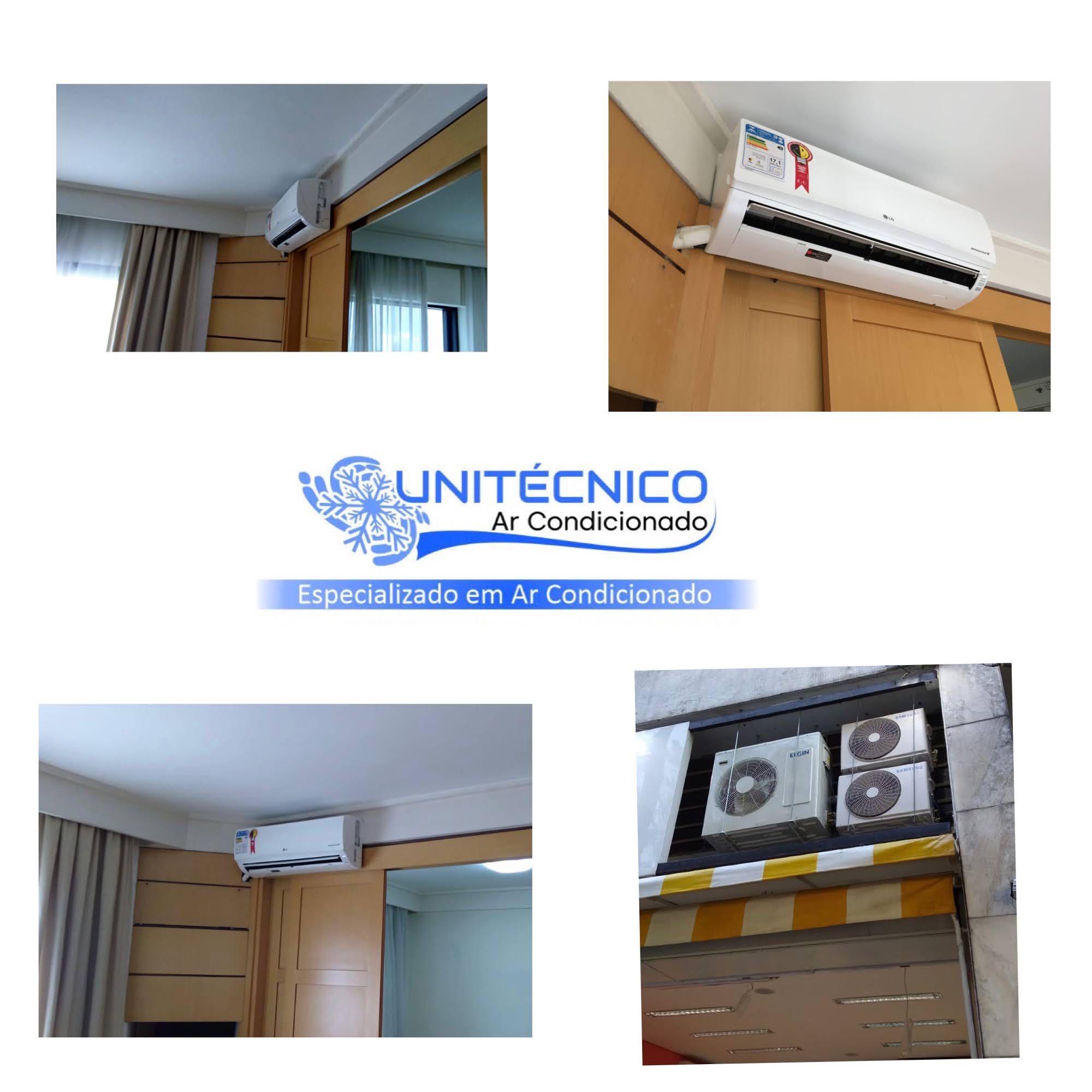 Instalação de Ar Condicionado e com a Unitécnico Ar