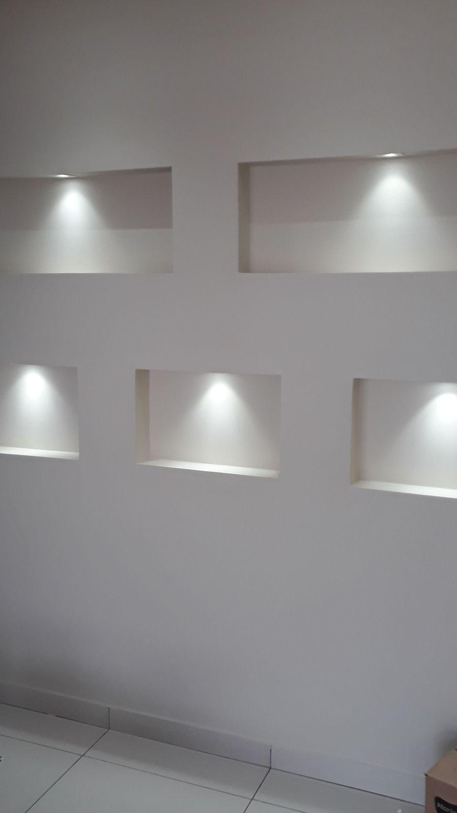 nichos com iluminação