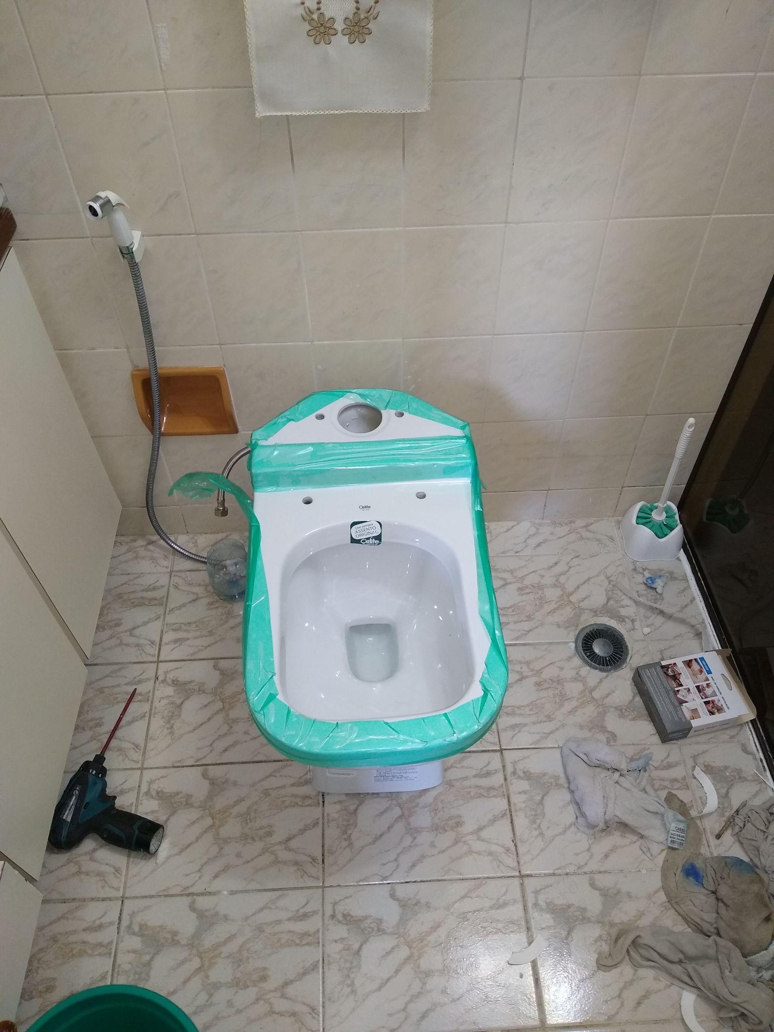 Instalação de vaso sanitário