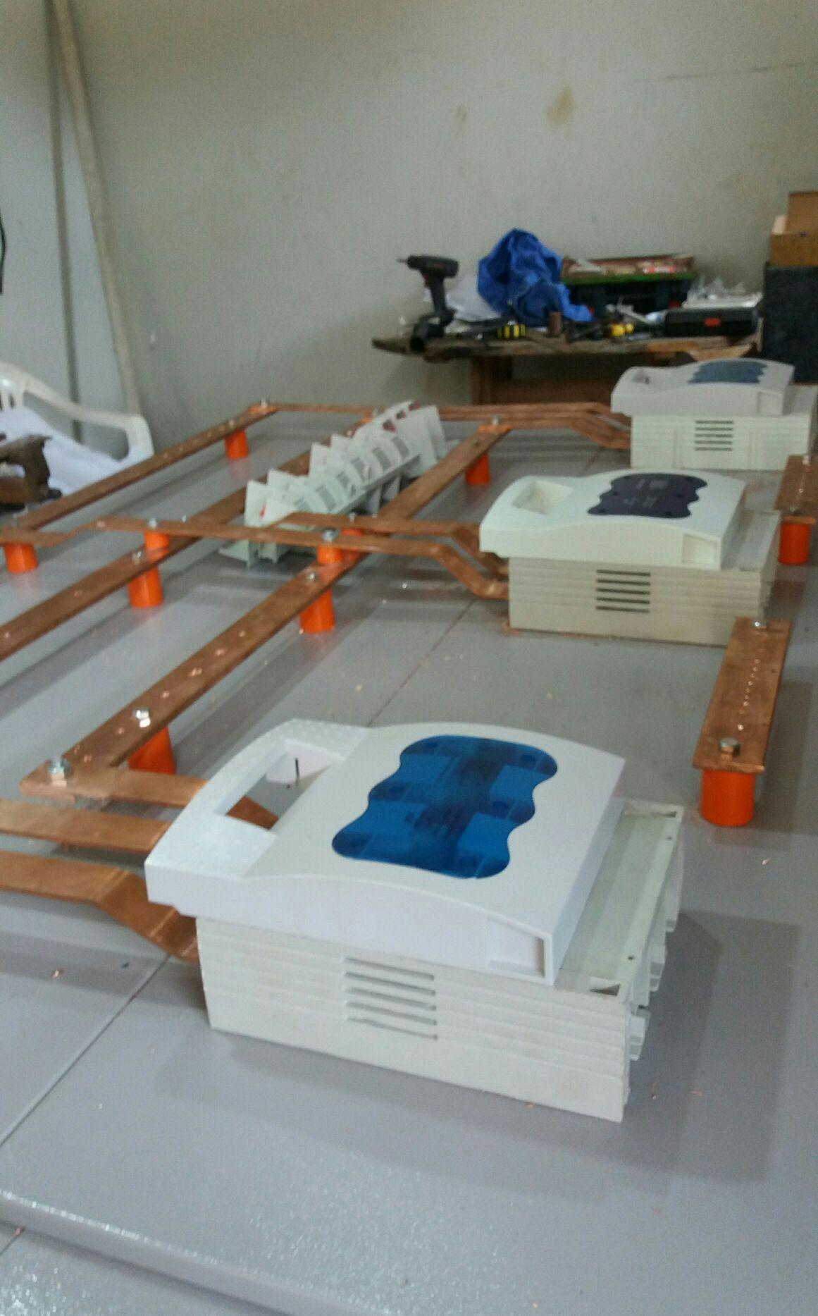 montagem de barramento seccionadoras para o centro