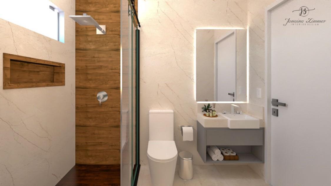 Banheiro clean e super elegante
