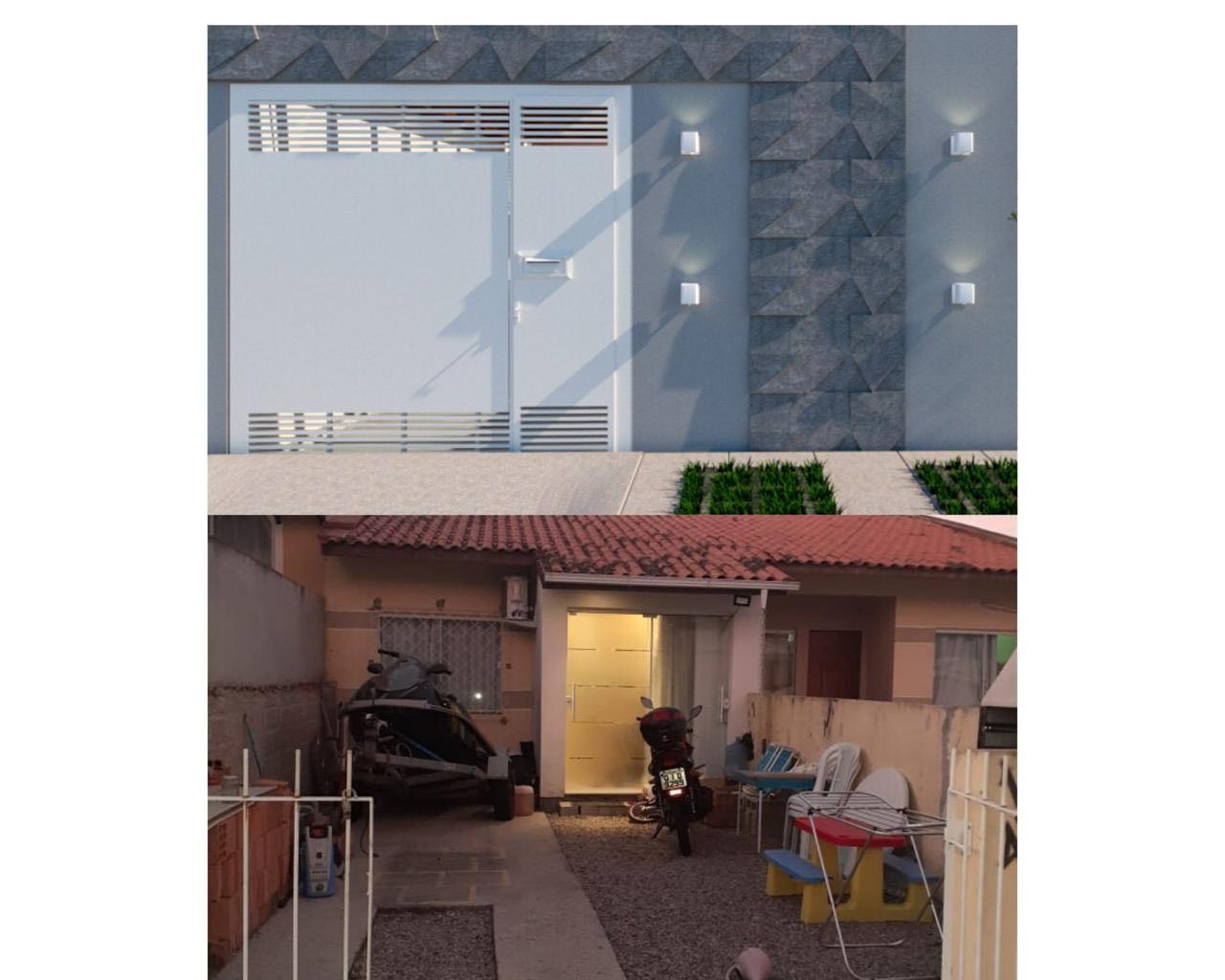 Fachada antes e depois