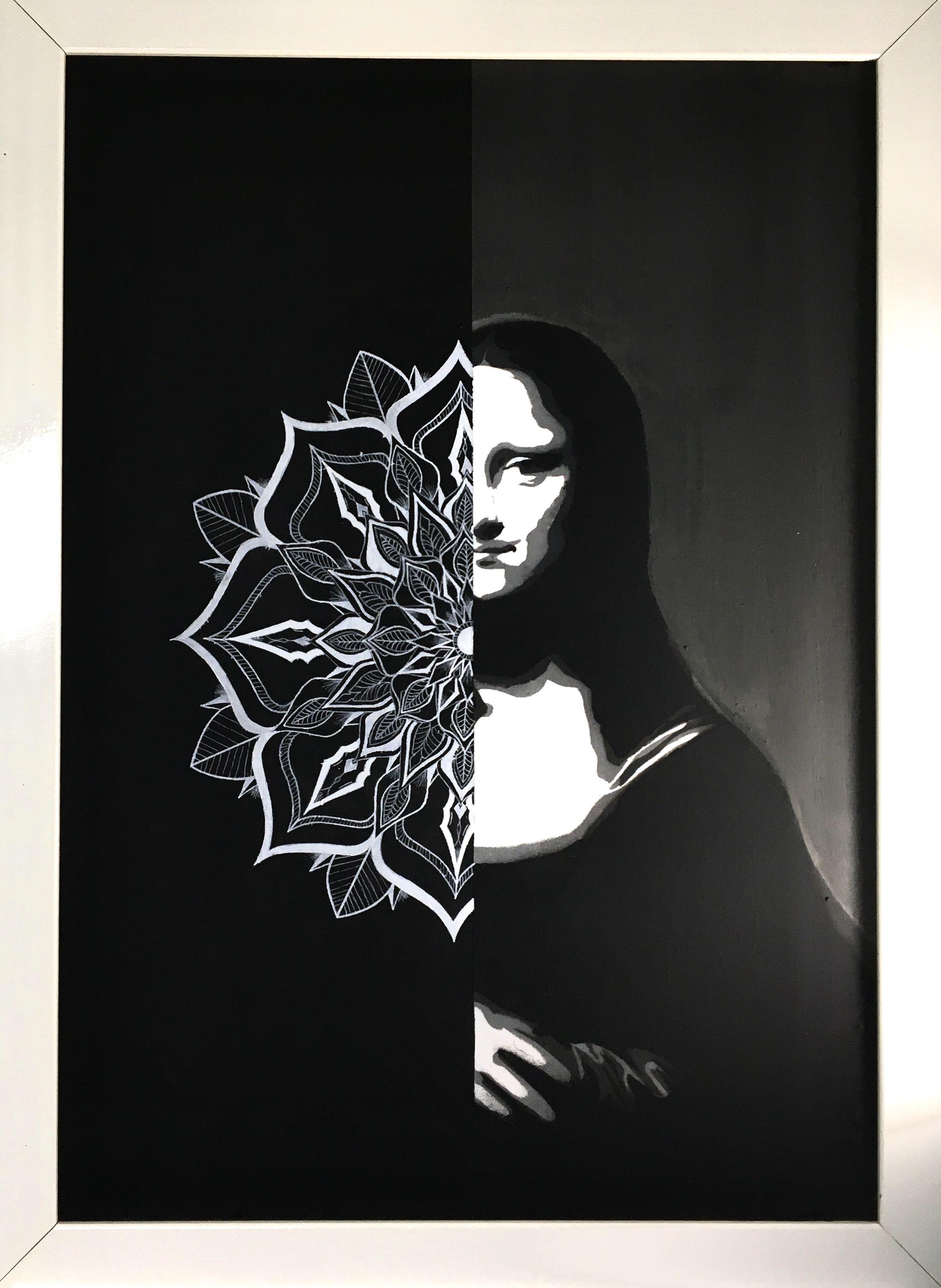 Produção de quadros exclusivos-técnica de stencil