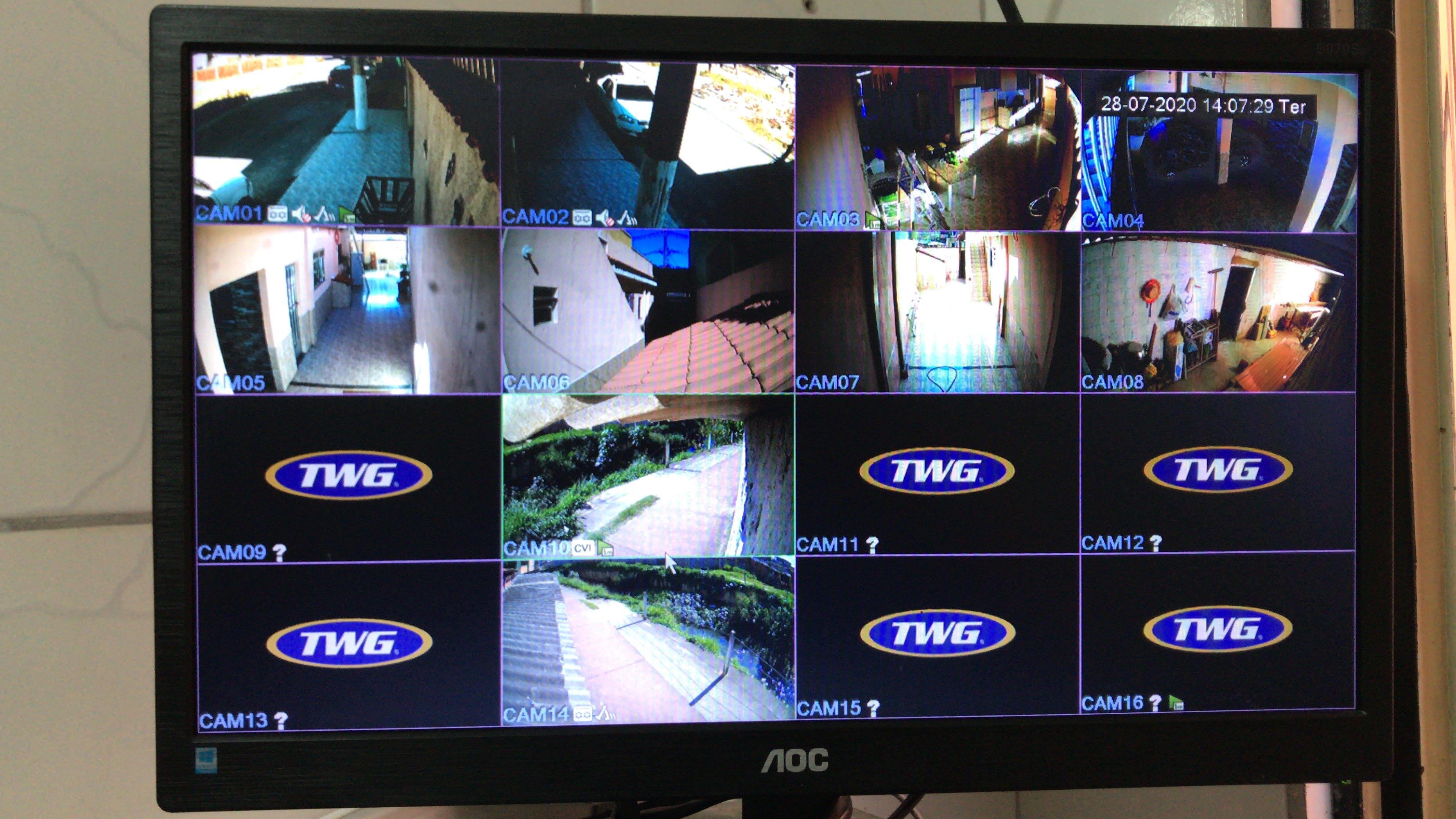 Serviço executado 10 câmeras HD