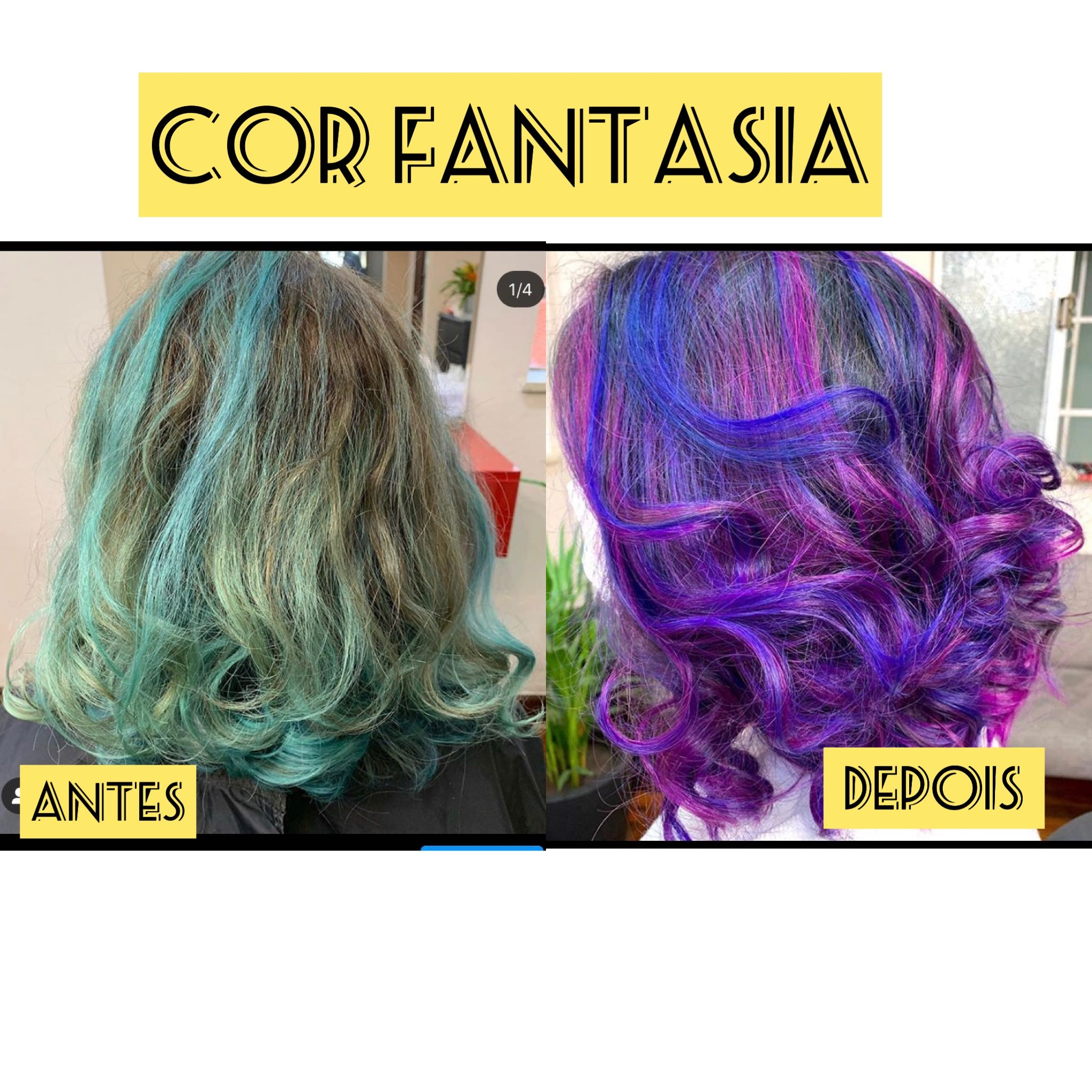 Cor fantasia / mechas coloridas