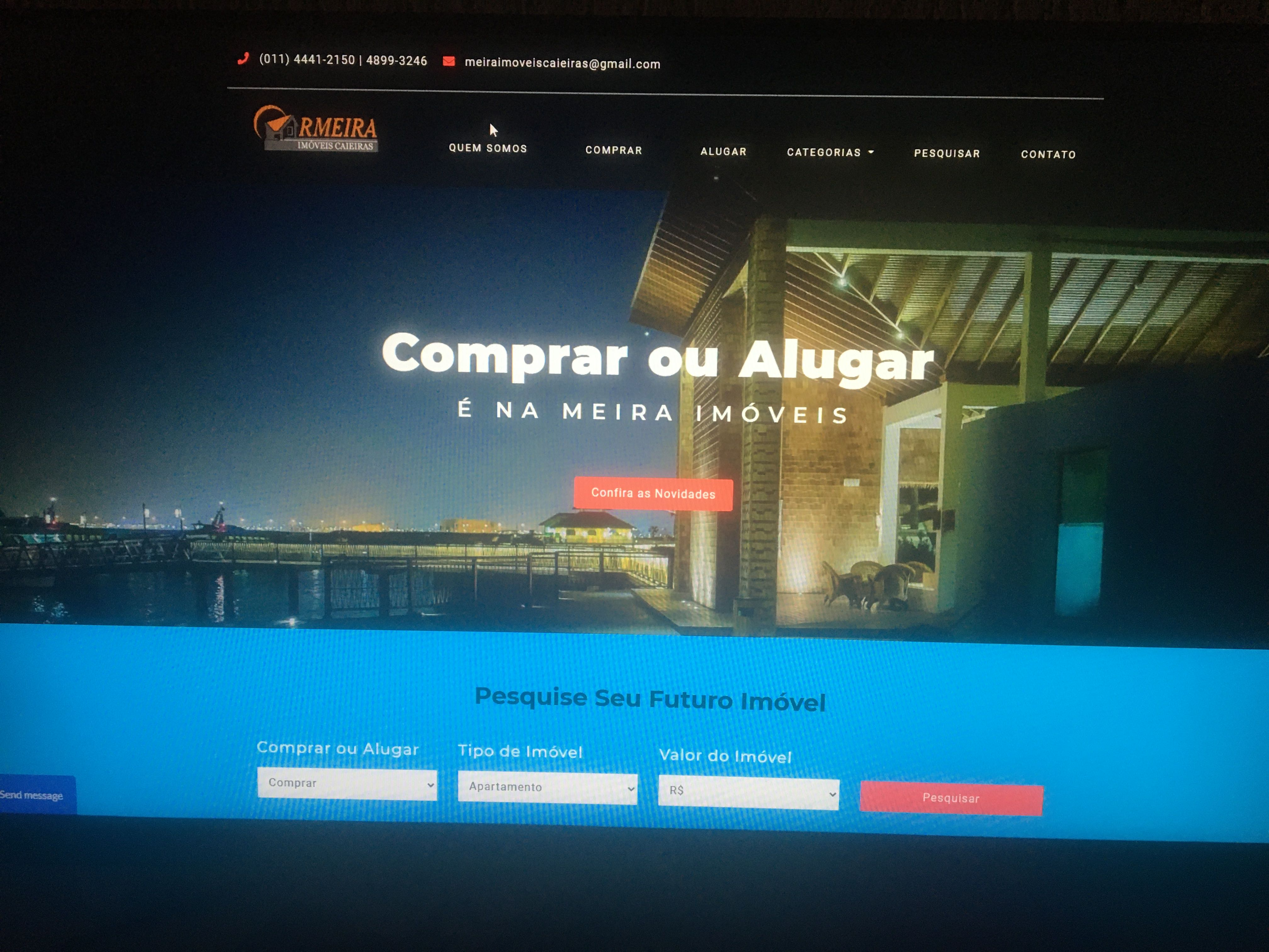 Site com sistema para Imobiliária