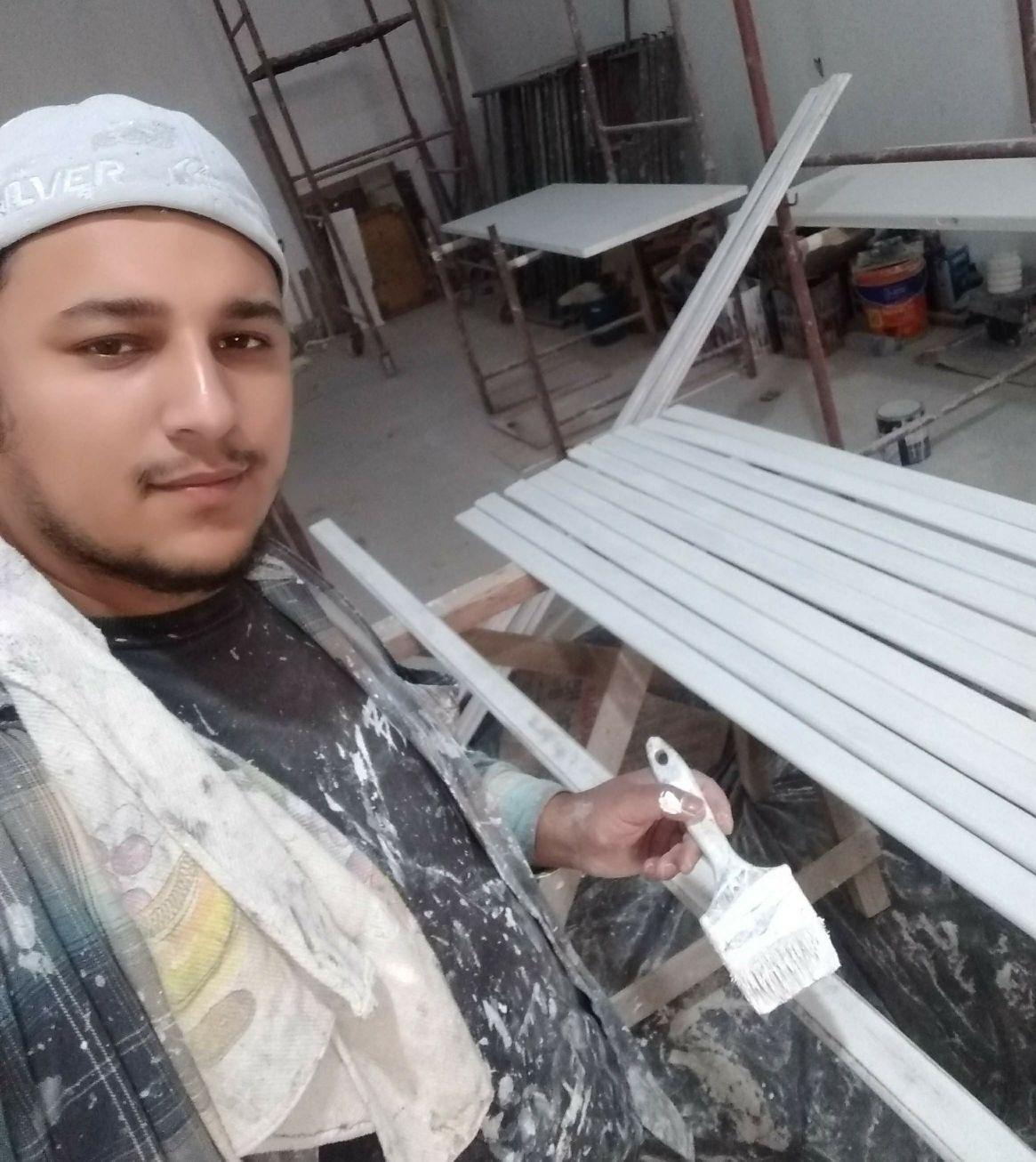 pintura de guarnições e porta
