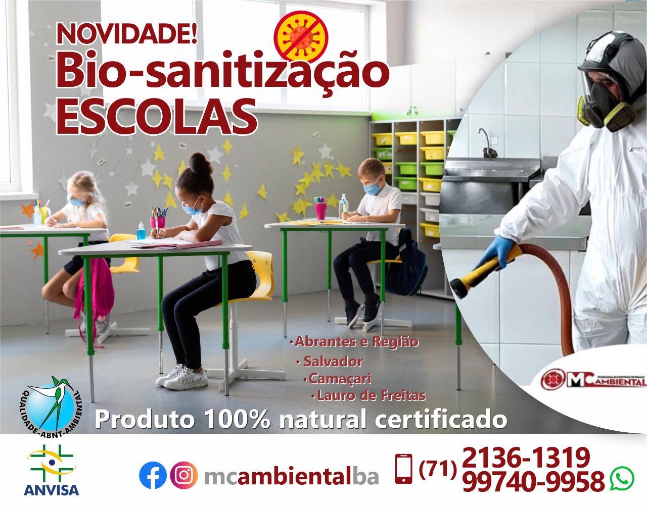 Bio Sanitização - Escolas