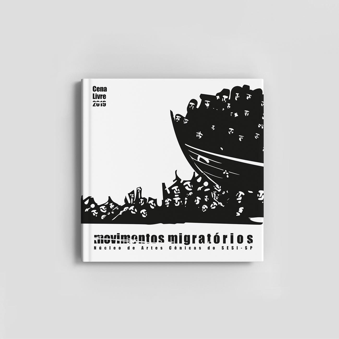 Projeto gráfico e diagramação do projeto Movimentos Migratórios para Sesi-Sp.