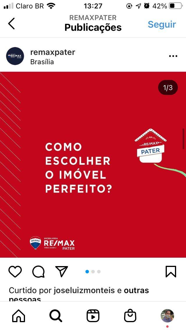 Poat realizado para a imobiliária Remax Pater-Df