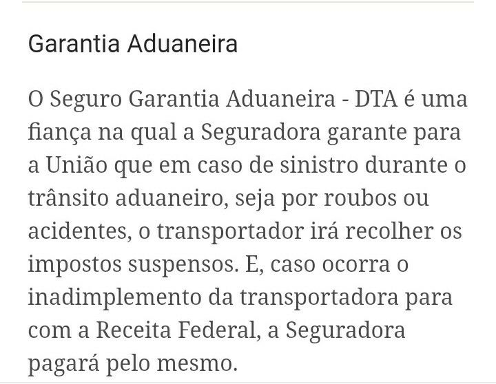 GARANTIA ADUANEIRA