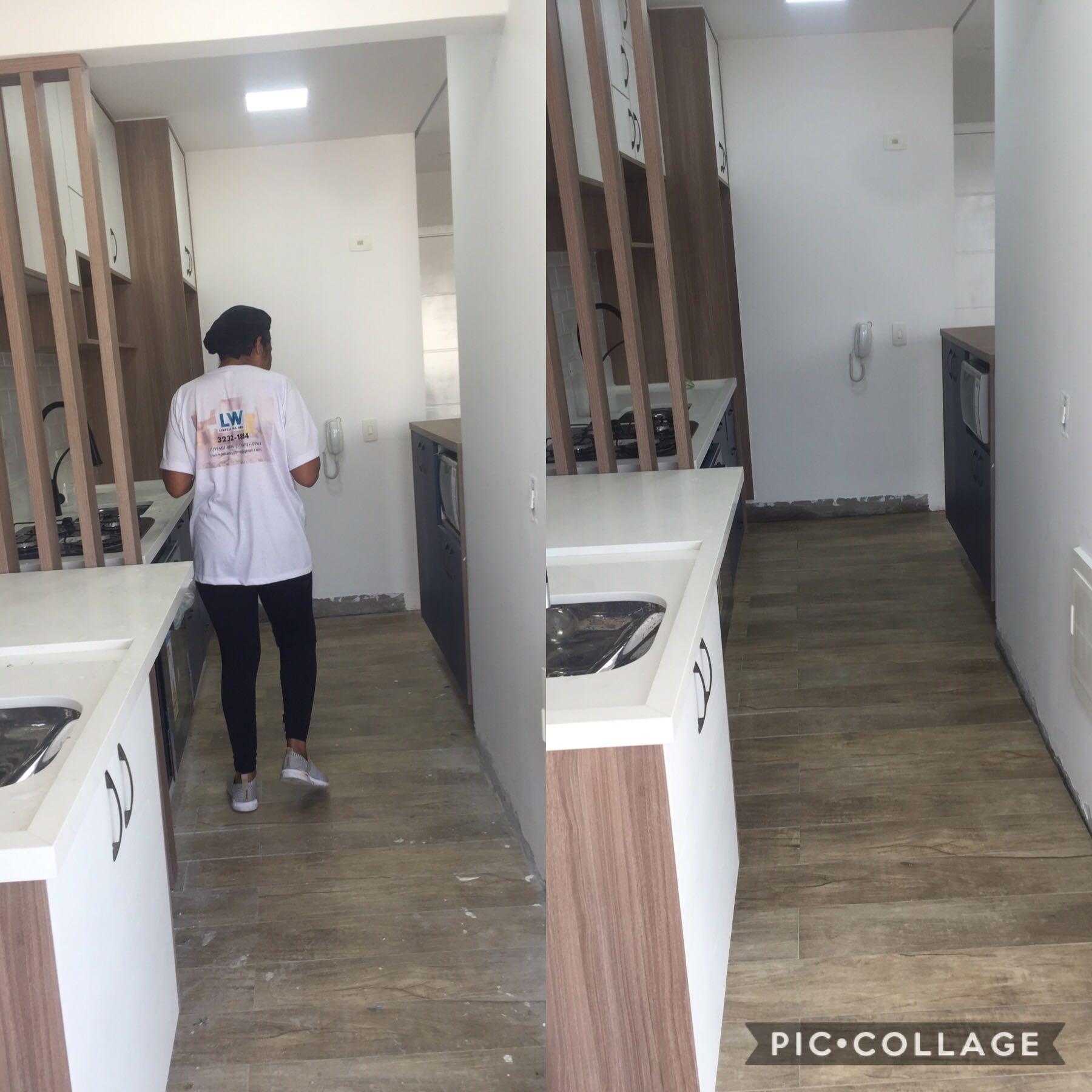 Limpeza pôs obra
