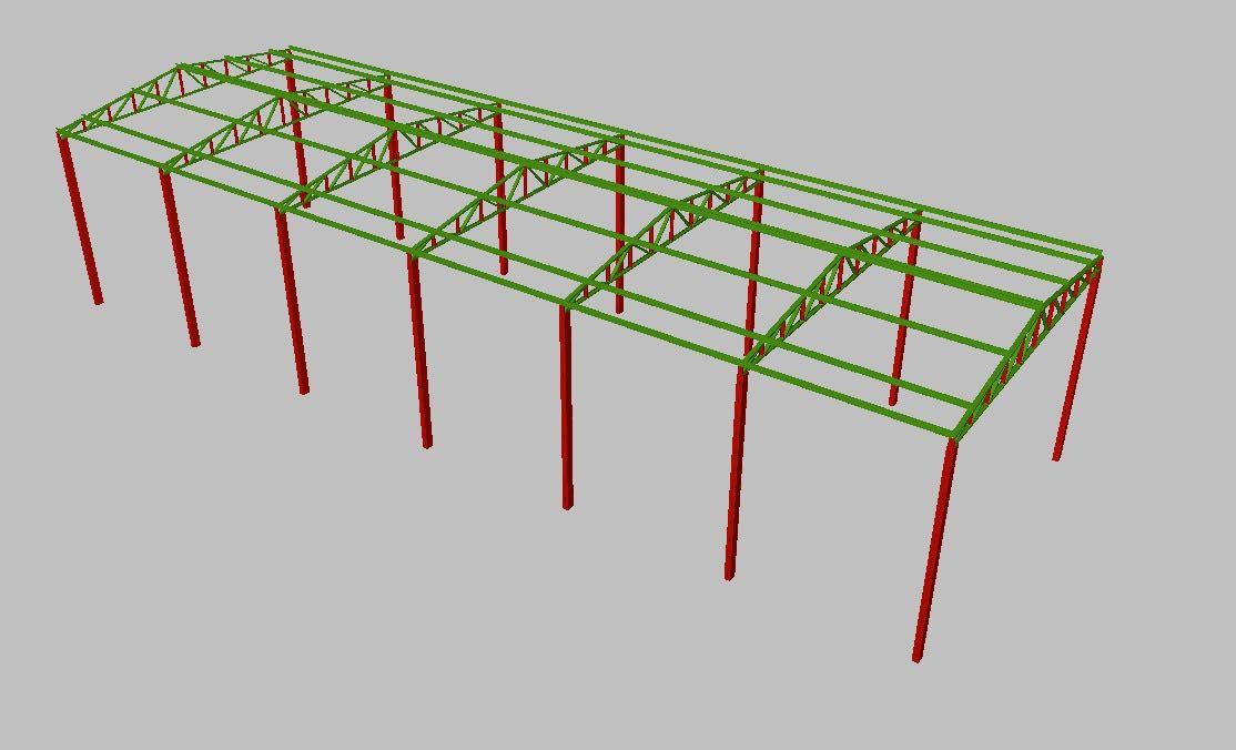 Projeto de estrutura metálica de galpão