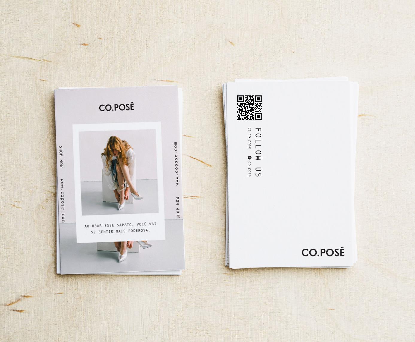 Cartão de agradecimento para Co.posê