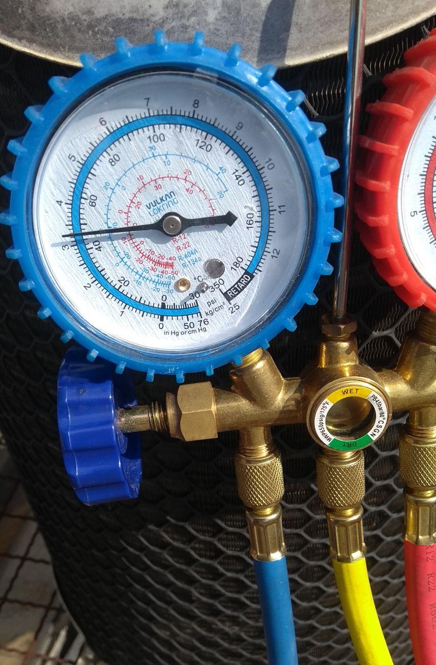 conferência de pressão do gás.