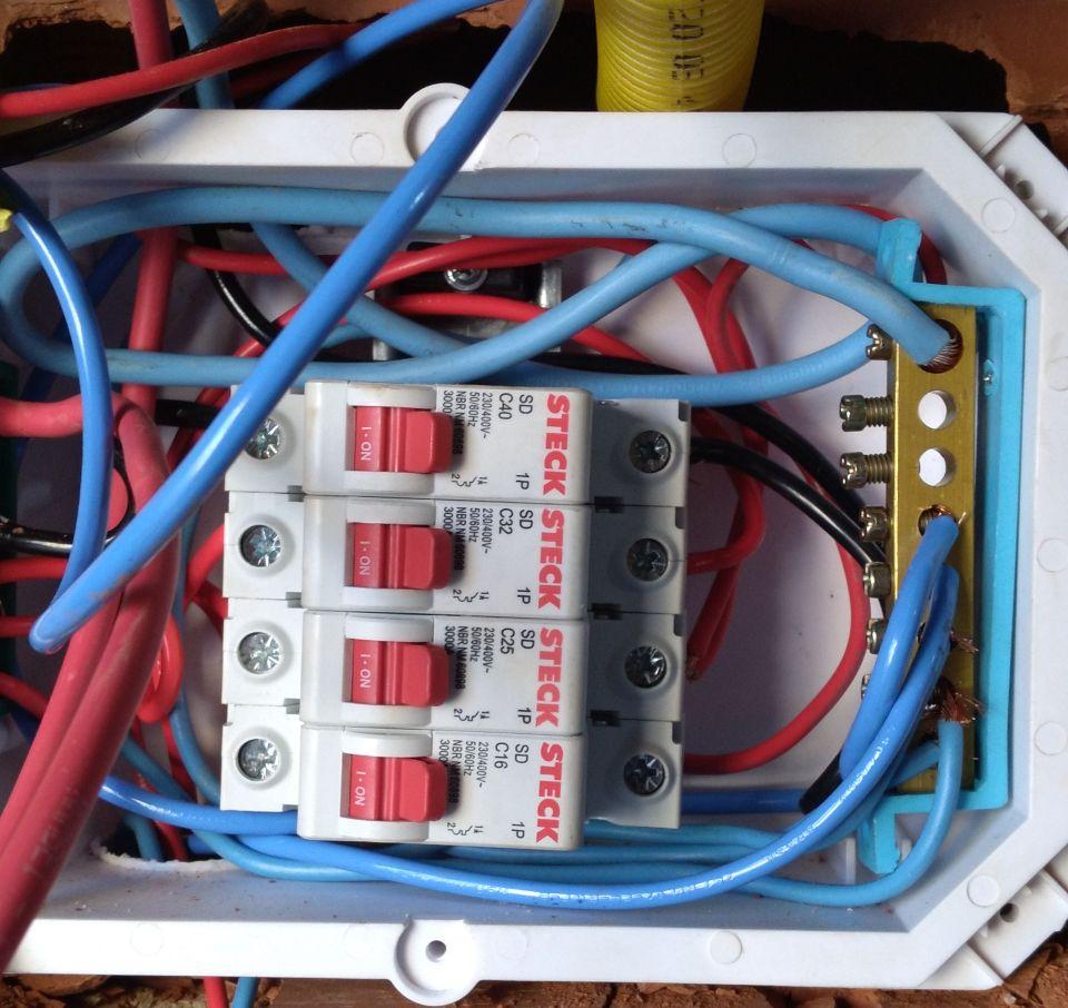 instalação elétrica residencial monofásico
