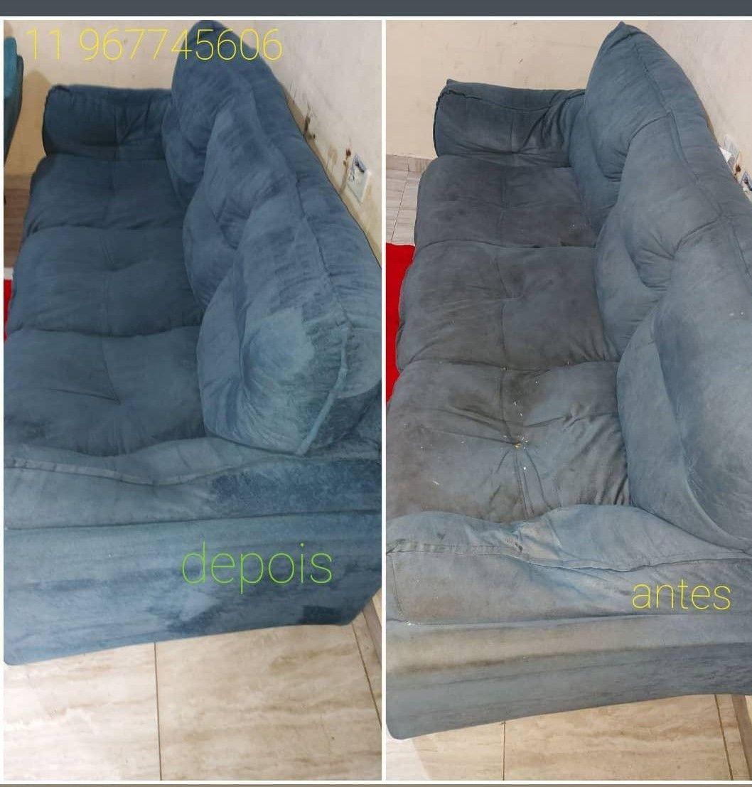sofá com sujidade alta