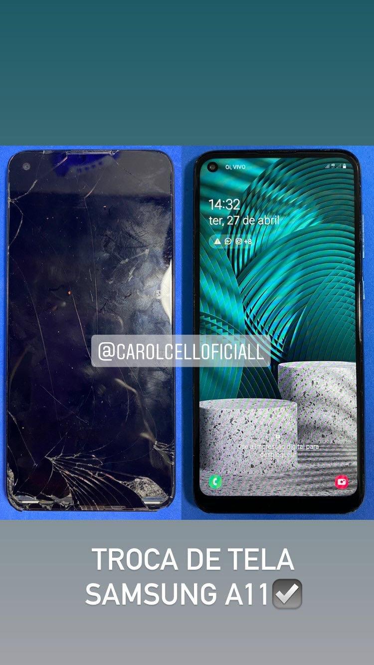 Troca de tela completa do Samsung A11!