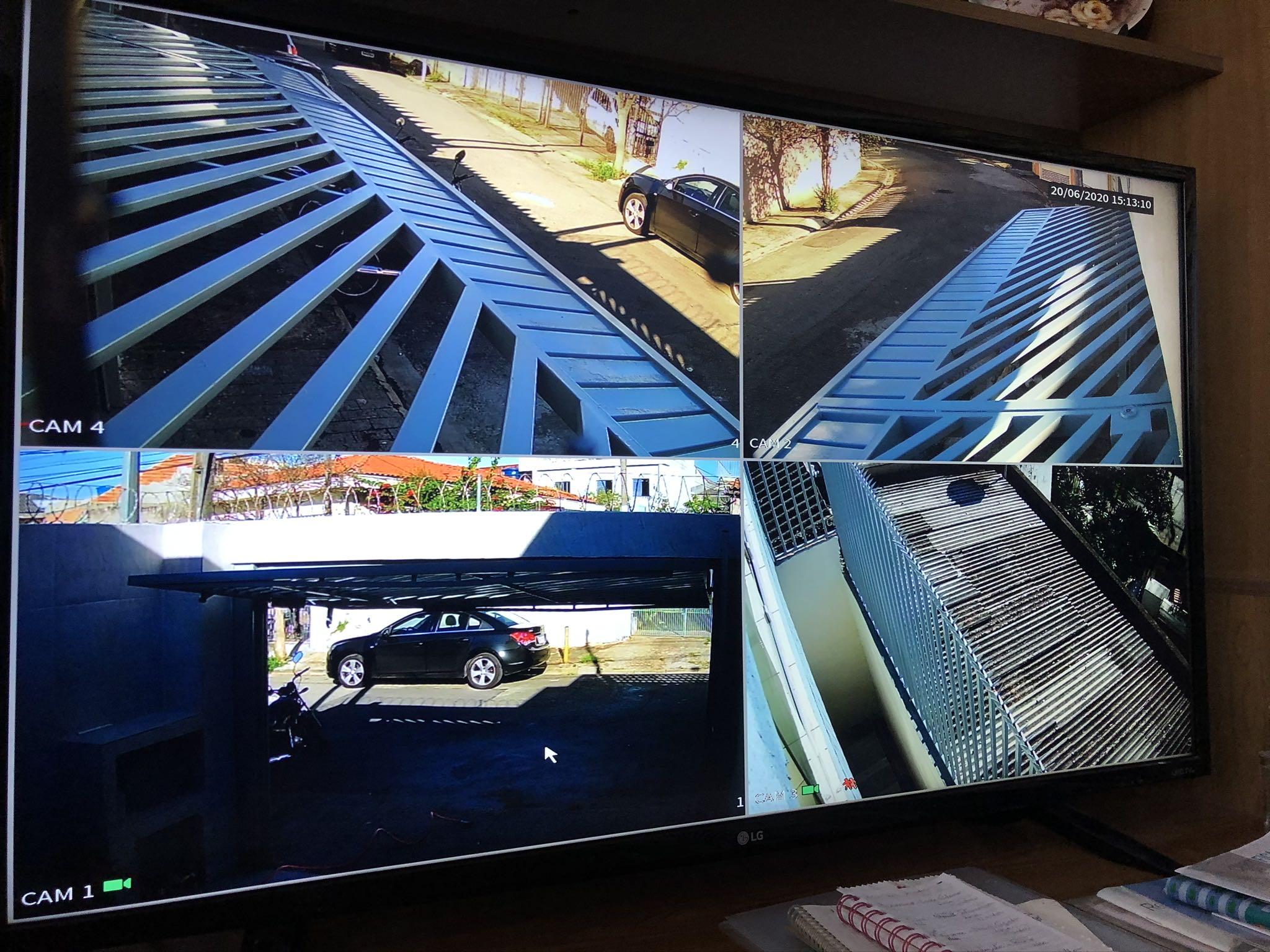 CFTV residencial com 4 câmeras!