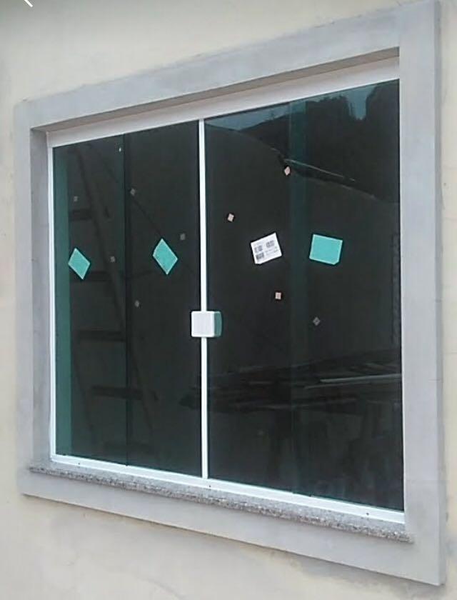 Janela de vidro temperado 8mm