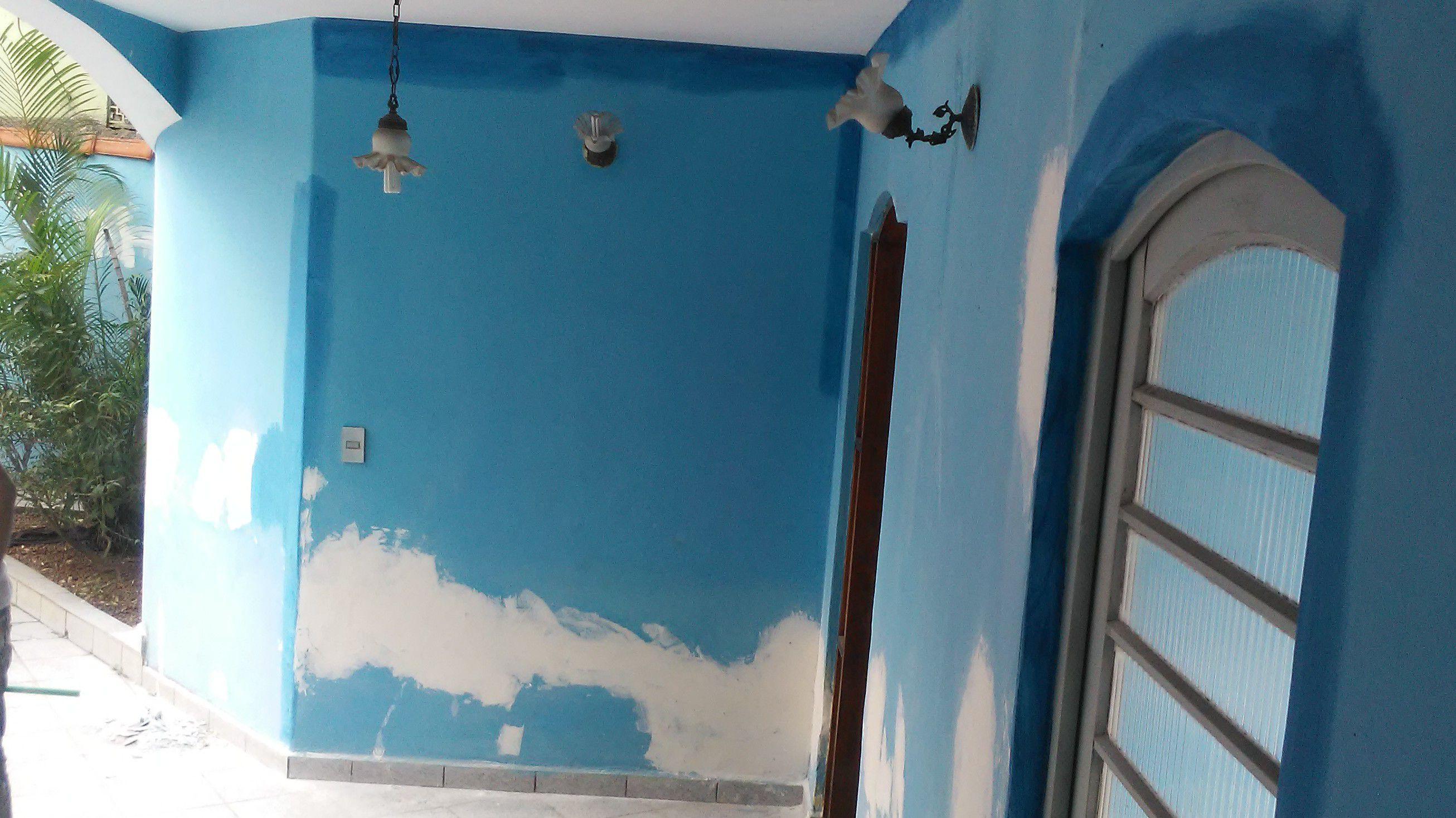 Preparando paredes para pintura!