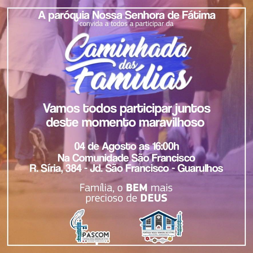 Arte para a Pascom da igreja nossa senhora de Fátima em Guarulhos, para divulgação da caminhada