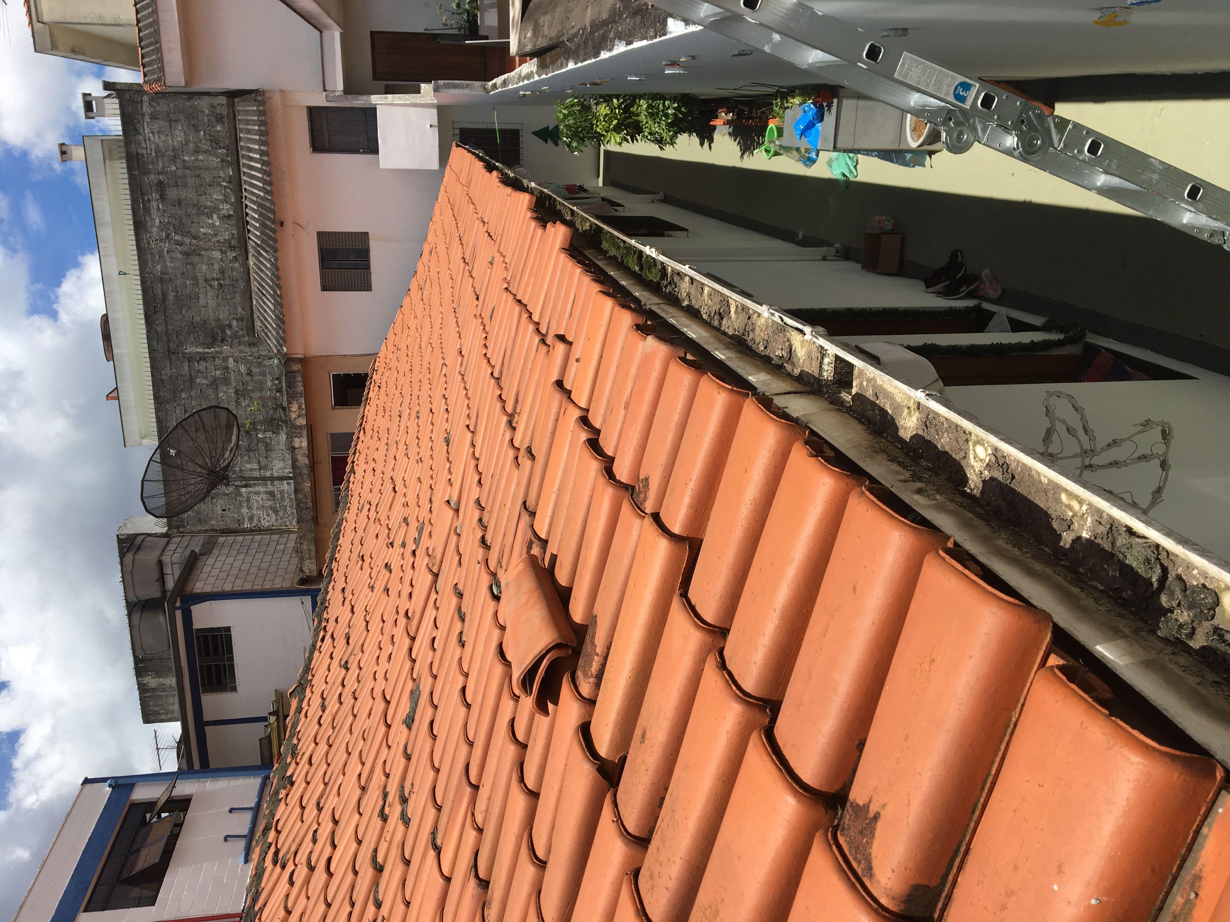 Alinhamento das telhas