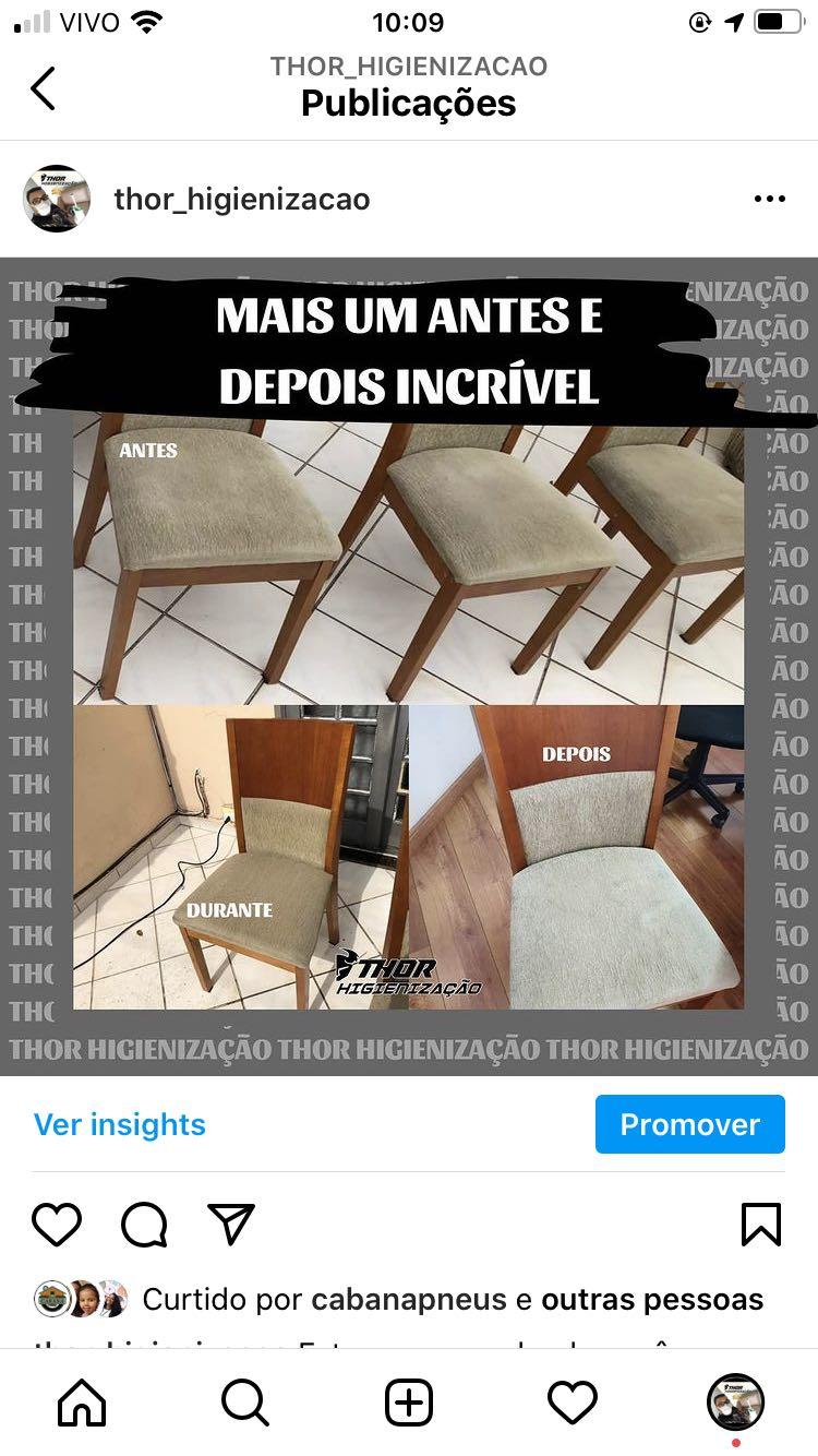 Higienização de cadeiras e estofados claros
