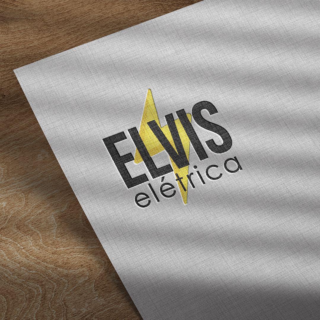 Criação de marca e aplicação da Elvis Elétrica.