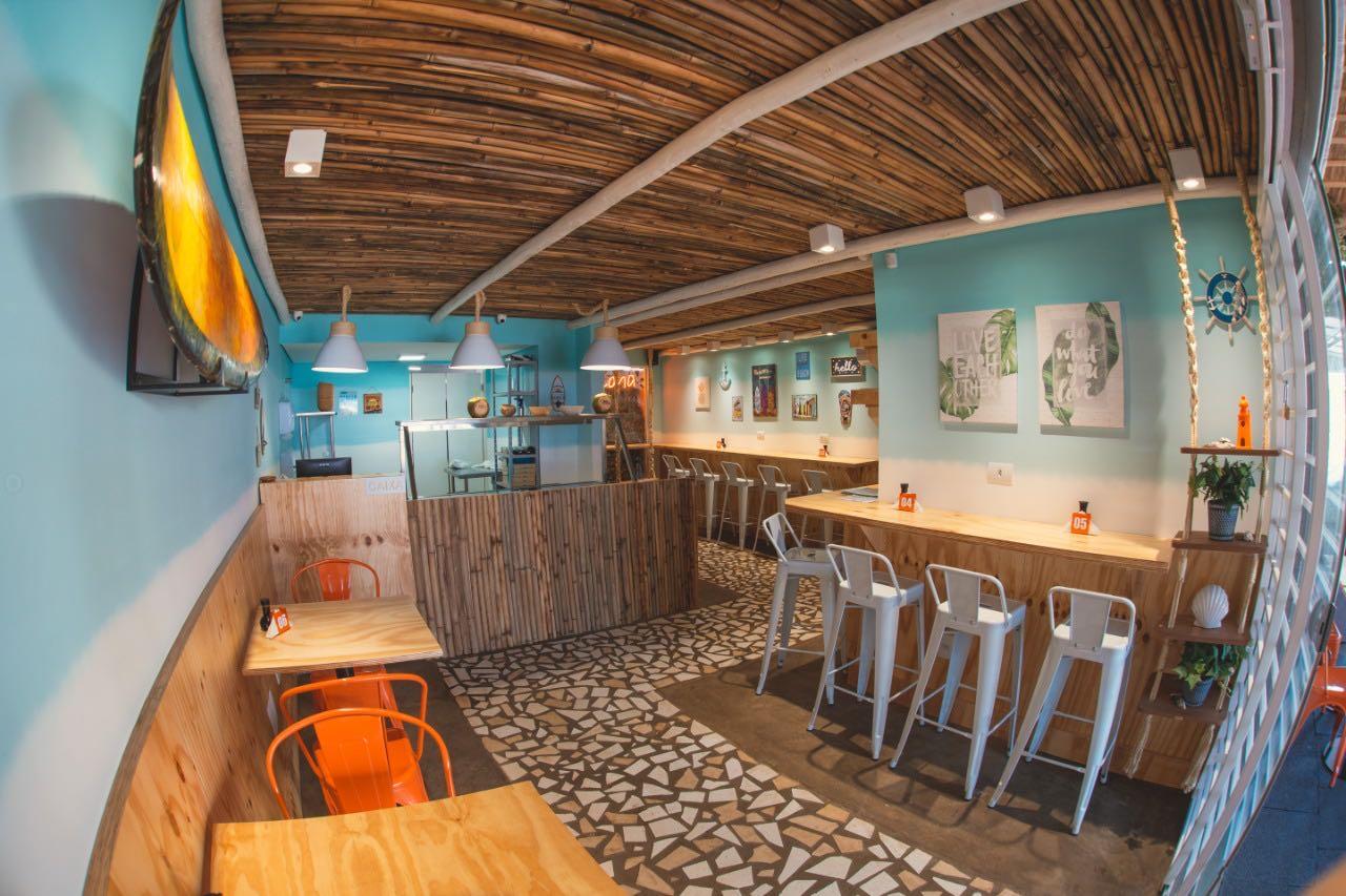 Projeto de reforma para restaurante havaiano