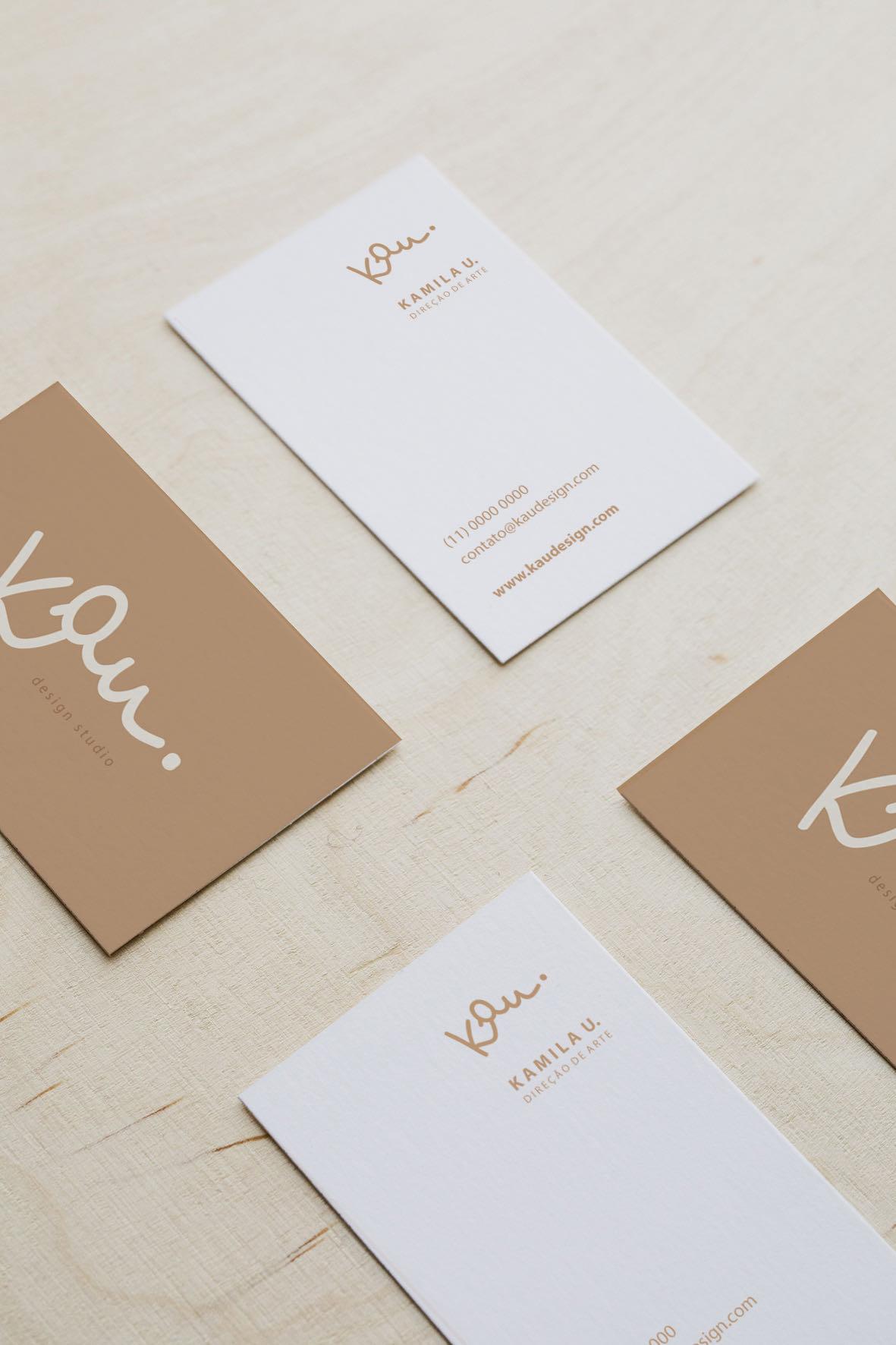Cartão de visitas Kau Estúdio Criativo
