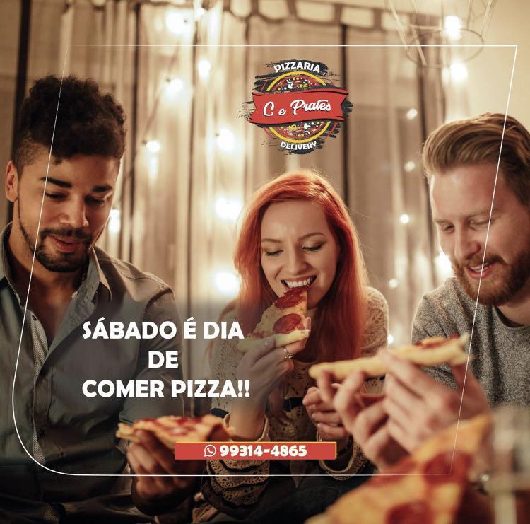 Post para Instagram C&Prates Pizzaria