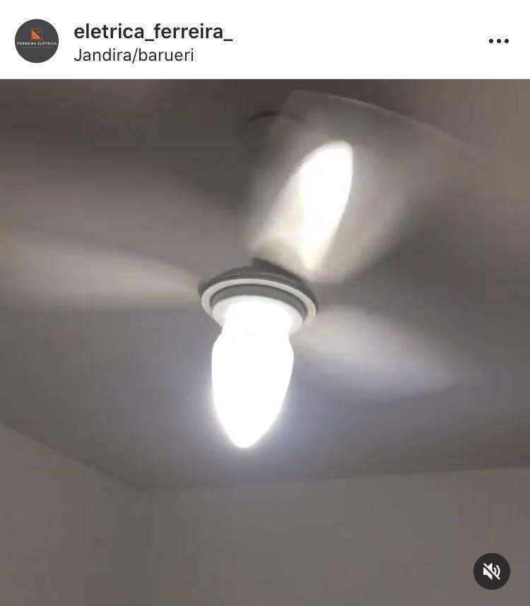 Depois da instalação do ventilador