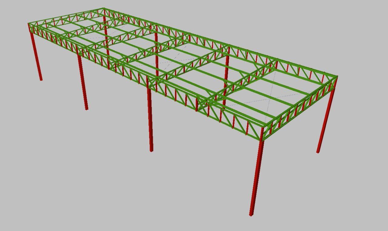 Projeto de estrutura metálica de um galpão